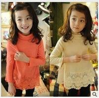 2013 spring autumn girl child children's clothing doll basic s2069 pullover shirt