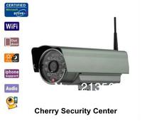Outdoor infrared 1.0 Mega Pixel ip camera  wifi 720P H.264 cctv security camera sd card IR 20m EMS free shipping,dropshipping