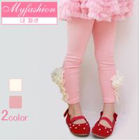 2013 female child new arrival spring princess all-match flower skinny legging pants k3001