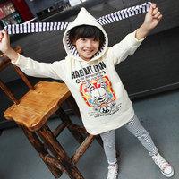 2013 spring female child long design sweatshirt outerwear s2115