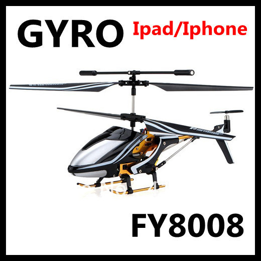 FY8008 iPhone/iPod Touch/iPad Remote Control 3.5CH Metal Mini Infrared Control RC Helicopter with Gyro(China (Mainland))