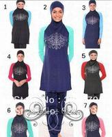 7 Colors New Arrivel Fashion Made-to-measure Girls Muslim Swimwear Islamic Swimwears Women Beach Swimsuits For Muslim