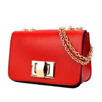 Wholesale + Free Shipping! Red Women Fashion Shoulder Bag Quilting Chain Cross Body Korean Ladies Handbag