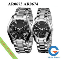 Luxury AR0673 AR0674 Women Men's Watch Hardlex Glass  Quartz Watches Wristwatch SG/HK Post With Original box