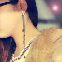 403 vintage multi-layer tassel earrings asymmetrical personality ultra long tassel drop earring fashion accessories