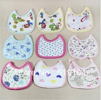 Free Shipping! Colorful Pure Cotton 3-Layers Cartoon Baby bib