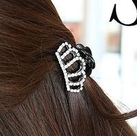 Korean fashion hair claws shiny hair clamp with rhinestones cute crown tiaras hair accessories for women HC01317 FREE SHIPPING