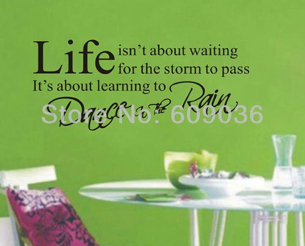 Life Isn't About Waiting Decal Wall Quote Saying Vinyl Sticker Art Lettering Home Mural Decal Decor Free Shipping Black Color(China (Mainland))