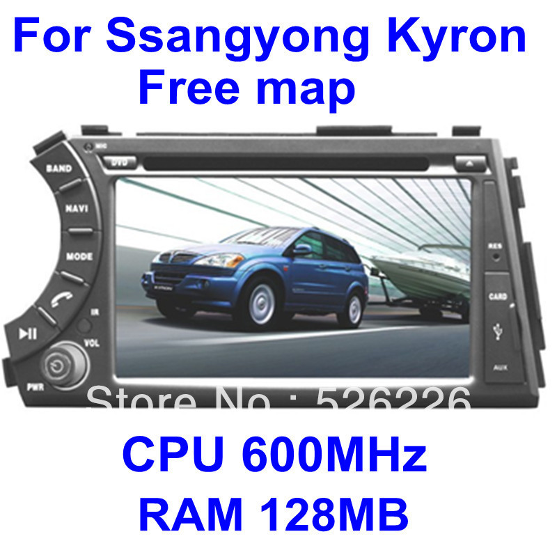 car dvd for Ssangyong Kyron / Actyon with GPS Navi / PIP / RDS / TV player / 3G Optinal + Free map gift(China (Mainland))