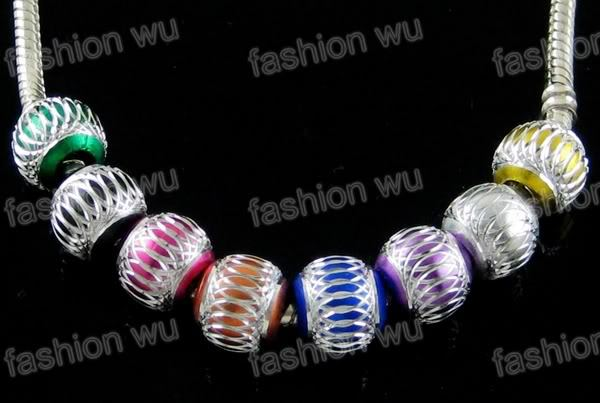 Mix Mixed colour aluminium Pan wholesale italian charms, red european beads(China (Mainland))