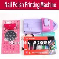 DIY Nail Art stamping printing machine Colors Drawing polish Nail Printer +7 x Attractive nail polish with retail box