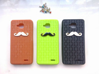 2013 free shipping Original JIAYU G3 Silicon Case Cover White Black Beard Style
