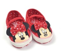 1 pairs Retail, Baby Girls Minnie Prewalker Shoes, Girls Cartoon shoes,Freeshipping IN STOCK