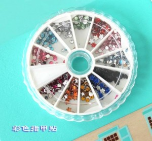 Free shipping Finger stickers diy nail art set