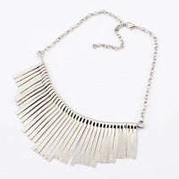 Free Shipping Female 2012 new arrival 8.14 fashion tassel necklace silver male  1 pc Wholesale