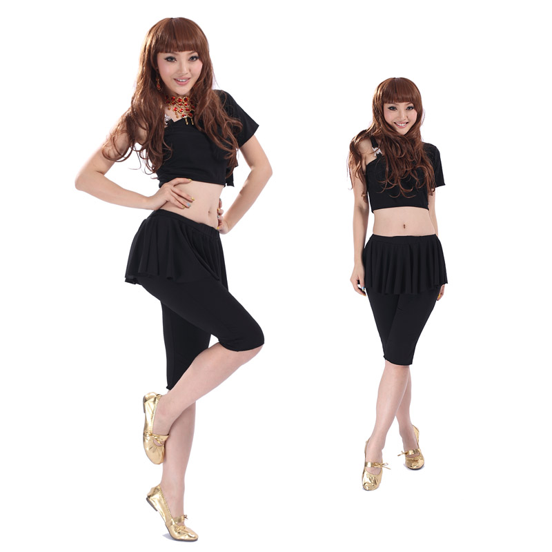 2013 hot Belly dance clothes dance belly dance Latin set one shoulder top s61 belly dance pants k29(China (Mainland))
