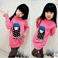 2012 winter female child female child thickening sweatshirt outerwear s2038