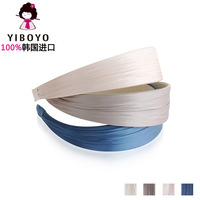 Yiboyo accessories solid color ribbon female wide headband hair bands hair accessory