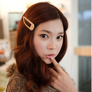 Solid color ribbon all-match knitted ccbt handmade spirally-wound candy color bb clip hair accessory(China (Mainland))