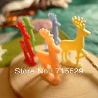 Free shipping 47mm cute Resin deer For toy/DIY Jewelry/ Mobile Phone Decoration by 30pcs/ lot