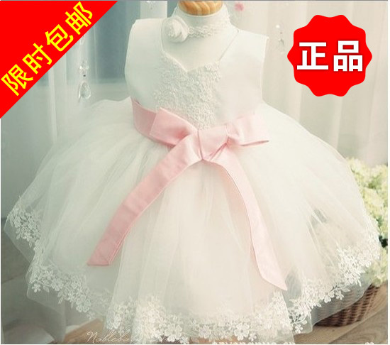 Free shipping new children's dress flower girl dress princess dress tutu birthday dress veil(China (Mainland))
