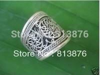 Handmade jHandmade jewelry Tibetan silver cute filigree cuff ring