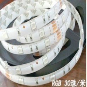 Waterproof super bright rgb smd 5050 soft light strip 30 lamp m led strip light source colorful(China (Mainland))