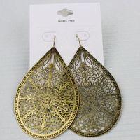 Accessories fashion vintage leaves cutout big earrings cv-17 !  Free Shipping