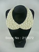 News fashion simulated-pearl detachable collar/personality-retail-high quality/comfortable-fit more cloth-Free Shipping