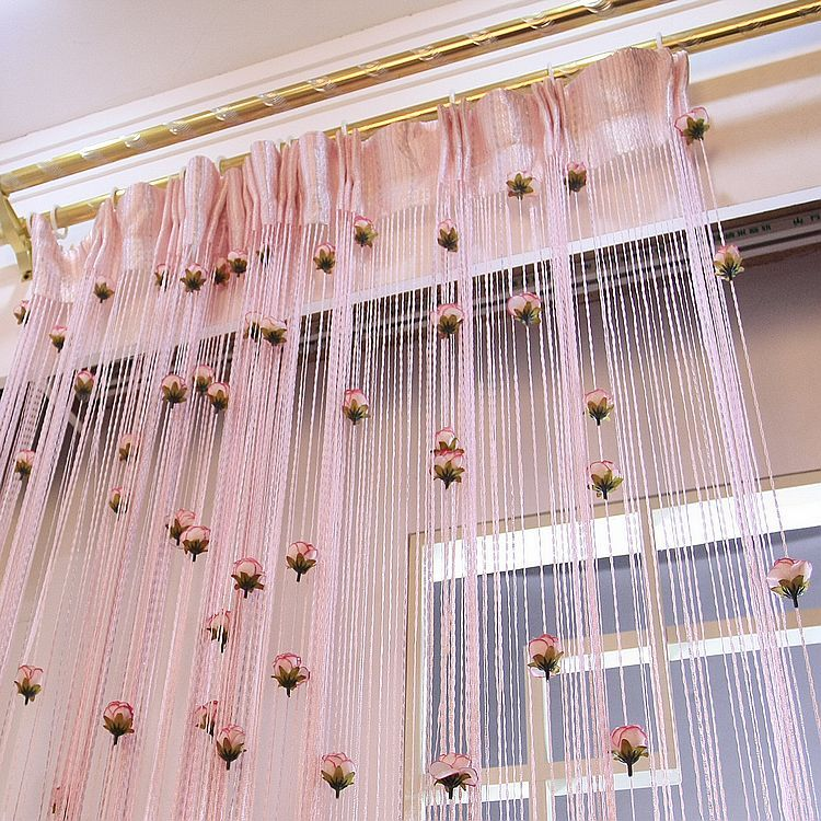 At home flower curtain partition curtain finished product romantic rustic curtain compartmentation living room(China (Mainland))