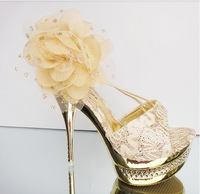 The new 2013 summer shoes nightclub fashion sexy waterproof Taiwan golden fish mouth high heel sandals
