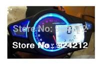 New LCD Digital Odometer Speedometer Tachometer Motorcycle Bike W/ Backlight