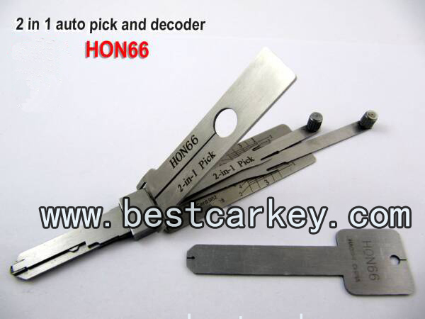 Good price Hon66 2 in 1 auto pick and decoder for Honda auto smart locksmith tools(China (Mainland))
