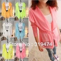 Free shippig ]women shirt,ladies summer sun-protective clothing transparent Beach shirt long sleeve coat