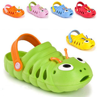Free delivery! Brand New Boys And Girls Caterpillar Comfortable Clogs Sandal Shoes kids, (6 kinds of color) wholesale and retail(China (Mainland))