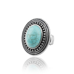 European and American Retro Turquoise Stone Ring,Stretch Rings,Wholesale Turquoise Jewelry Rings Free Shipping AR057(China (Mainland))