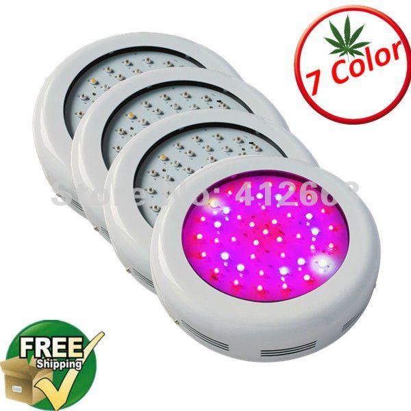 7 bands color Hydroponics ufo grow light Hot led grow light ufo 90w, 3w led chip, fedex free shipping, 4pcs/lot(China (Mainland))