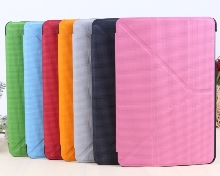 5PCS/Lot, New Smart Cover Protective Magic Case for Ipad Mini, Third Gear Luxury PU Leather Shell for Apple, Free Shipping(China (Mainland))