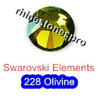 ss20 GENUINE Swarovski Elements Olivine ( 228 ) 144 pcs ( NO hotfix Rhinestone ) Round Crystal Clear Glass 20ss 2058 FLATBACK(Hong Kong)