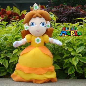"Nintendo Super Mario Bros Plush Toy Princess Daisy 13"" Cute Stuffed Animal Doll"