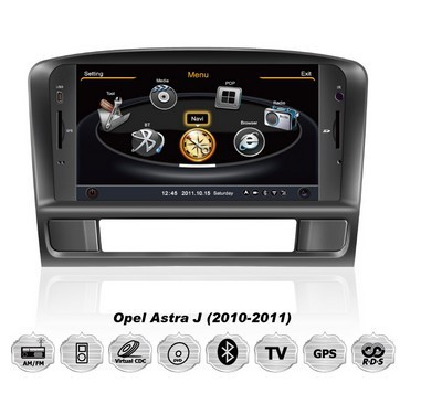 A8 S100 Car DVD GPS 3G Wifi RDS 20VCD Radio Navi For Opel Astra J 2010 2011 free map +free shipping(China (Mainland))