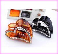 FREE SHIPPING fashion acrylic hair claw clamp gift rhinestone hair clip fashion wholesale hair accessories for girl HC01325