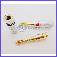 4pcs/lot New 24K Gold Nakamichi Speaker Banana Plugs Connector  Free Shipping