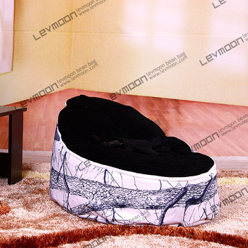 FREE SHIPPING baby bean bag cover with 2pcs black up cover baby bean bag cover baby seat bean bag chair bean bag no filler