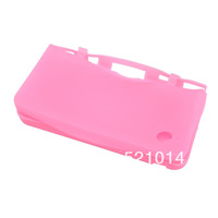 Free Shipping 100pcs/lot New Pink Silicone Skin Case Cover For Nintendo DSi NDSi LL XL hot selling