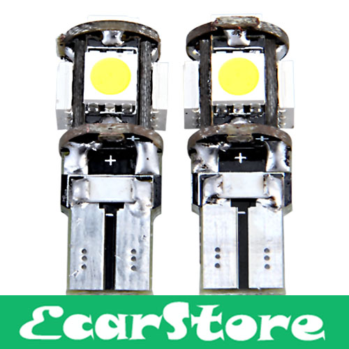 2 CANBUS T10 W5W 194 5 SMD LED Car Side Light Bulb Lamp(China (Mainland))
