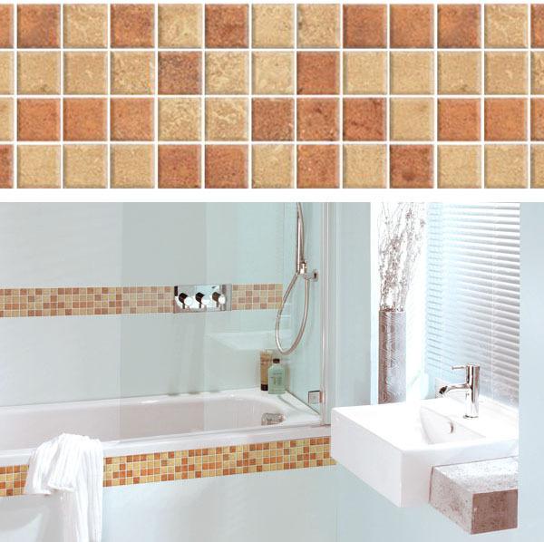 Wall stickers mosaic waistline stickers waterproof tile