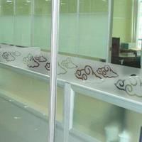 Glass film customize waistline door film customize office partitions simple decorative pattern crash bar