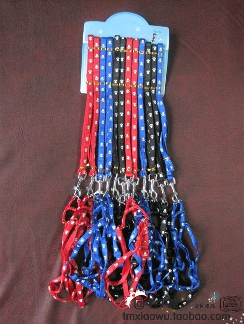 Pet traction rope nylon 1.0 paws pet suspenders rope(China (Mainland))