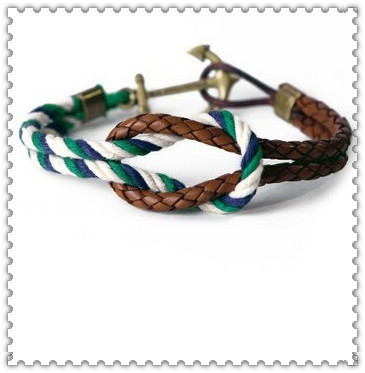 Hot Fashion Triple Gold rope Knot Bracelet Wholesale(China (Mainland))